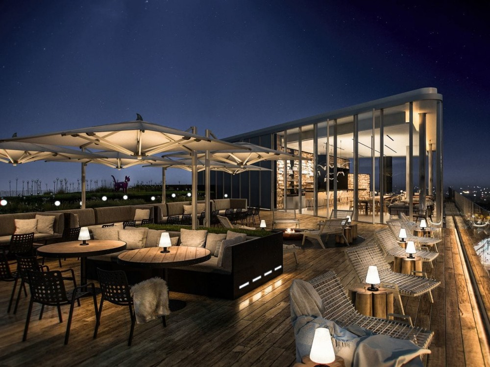 Andaz Vienna Am Belvedere - Skybar-Terrace at night<small>© Hyatt Corporation / Andaz Vienna Am Belvedere</small>