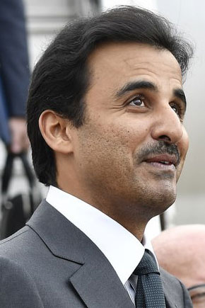 Emir of Qatar, Sheikh Tamim bin Hamad Al Thani<small>© Wikimedia Commons / LLs [CC BY-SA 4.0]</small>