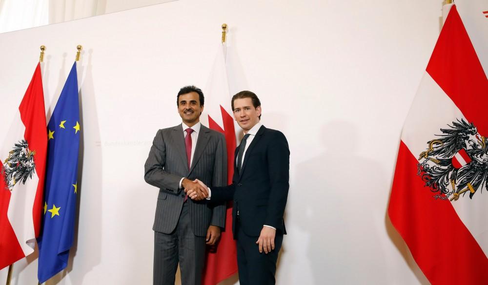 Tamim bin Hamad Al Thani and Sebastian Kurz<small>© Bundeskanzleramt (BKA) / Dragan Tatic</small>