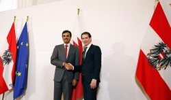 Tamim bin Hamad Al Thani and Sebastian Kurz<small>&copy Bundeskanzleramt (BKA) / Dragan Tatic</small>