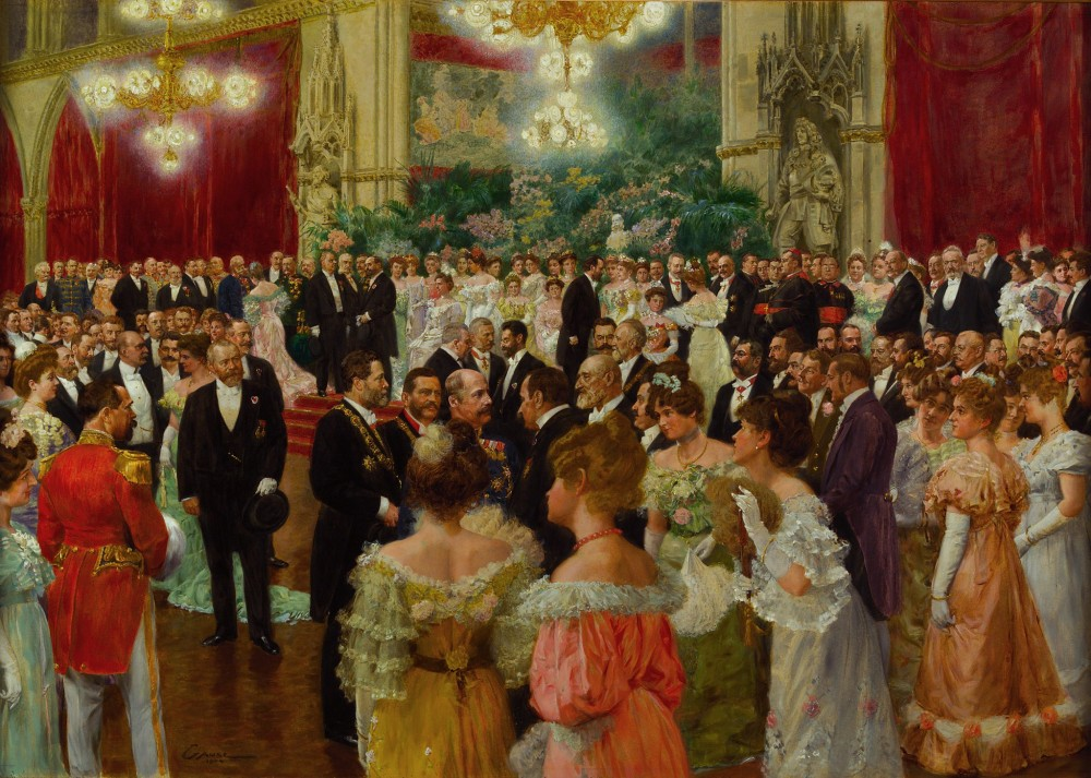 Viennese Ball at Vienna City Hall<small>© Wikimedia Commons / Wilhelm Gause [Public Domain]</small>