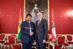 Evo Morales and Alexander van der Bellen<small>© Österreichische Präsidentschaftskanzlei / Peter Lechner/HBF</small>