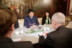 Evo Morales meets Alexander van der Bellen<small>© Wikimedia Commons/Ministerio de Rel. Ext. de Perú [CC BY-SA 2.0]</small>