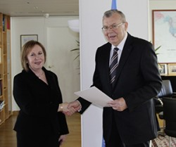 Ambassador of Namibia to Austria: H.E. Ms. Nada Kruger<small>© UNOV United Nations Office at Vienna</small>