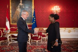 Ambassador of Trinidad and Tobago, Makeda Antoine<small>&copy bundespraesident.at / Carina Karlovits & Laura Heinschink/HBF</small>
