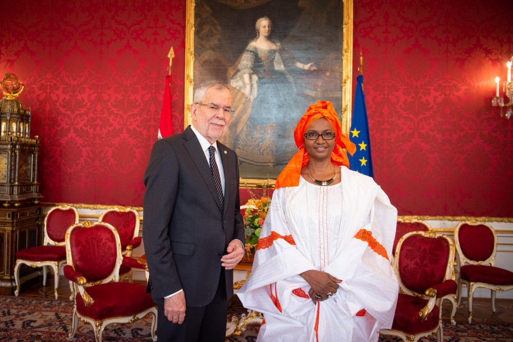 Ambassador of Mali, Oumou Sall-Seck<small>© bundespraesident.at / Carina Karlovits & Laura Heinschink/HBF</small>