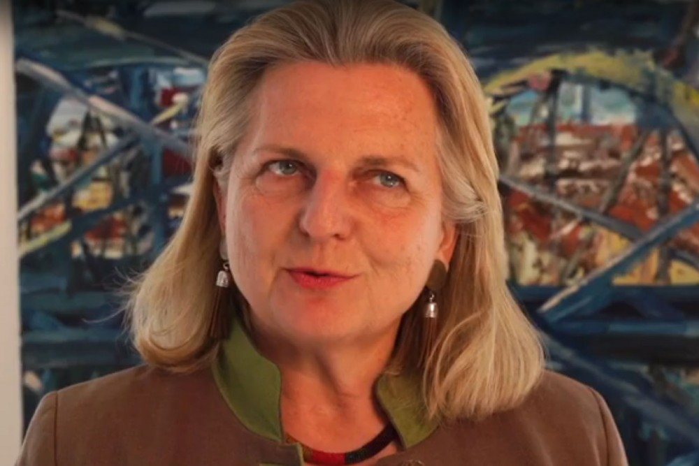 Karin Kneissl at the International Mine Action Day.<small>© BMEIA / Flickr Attribution 2.0 Generic (CC BY 2.0)</small>
