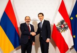 Prime Minister Nikol Pashinyan with Federal Chancellor Kurz<small>© Bundeskanzleramt (BKA) / Arno Melicharek</small>