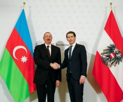 President Ilham Aliyev with Federal Chancellor Kurz<small>© Bundeskanzleramt (BKA) / Dragan Tatic</small>