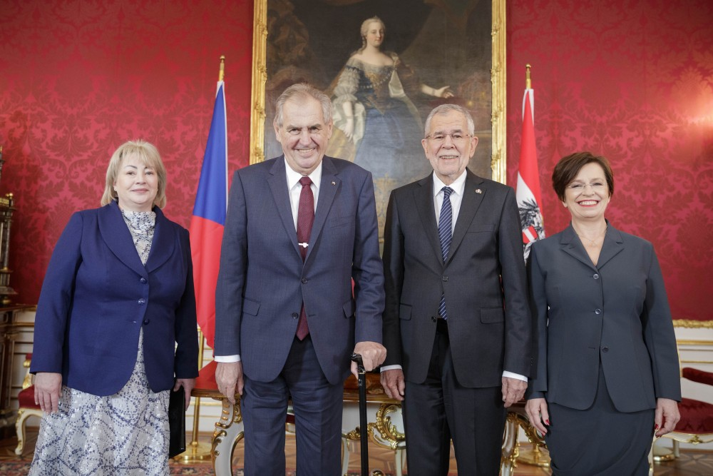 Alexander Van der Bellen welcomes Miloš Zeman to Austria<small>© Österreichische Präsidentschaftskanzlei / Peter Lechner/HBF</small>