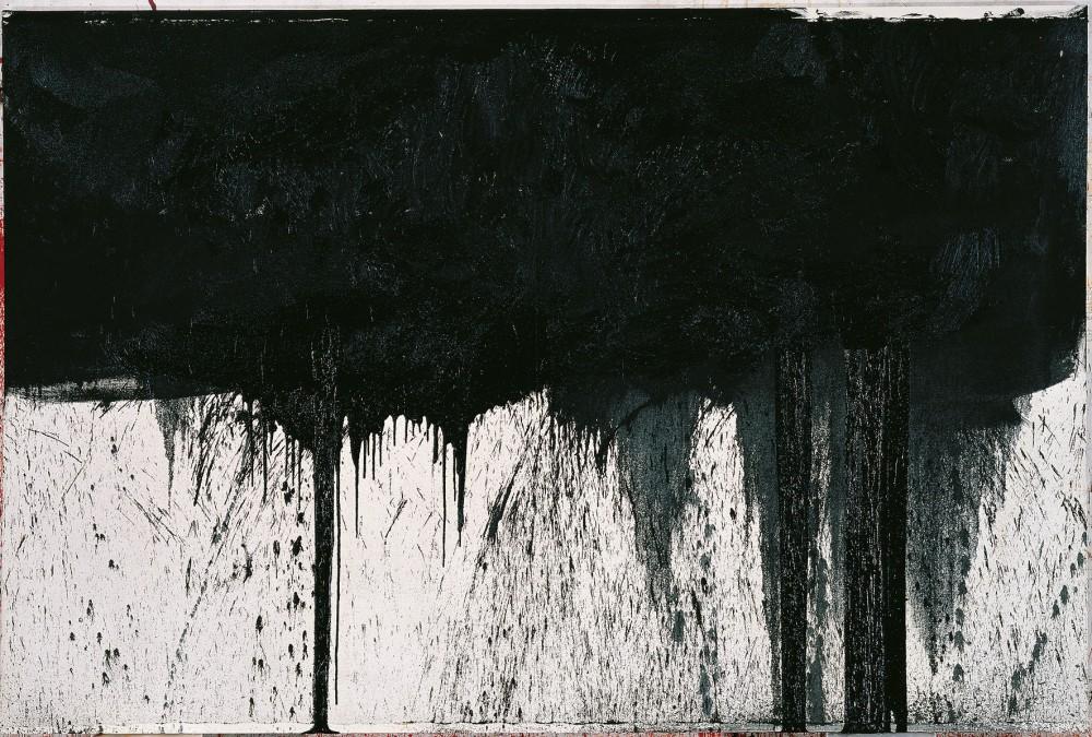 Hermann Nitsch: Kreuzwegstation (aus dem Schwarzen Zyklus), 1991<small>© Albertina, Wien. Sammlung Essl © Bildrecht, Wien, 2019</small>