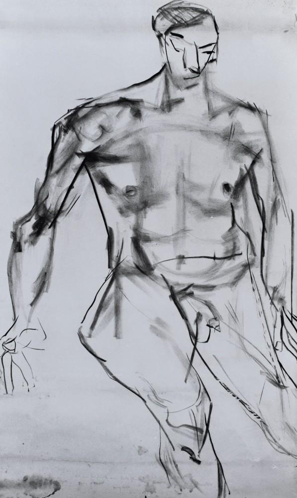 EDMUND KALB, Selbstbildnis als Akt, um 1930<small>© Privatbesitz: Sagmeister, Rudolf Sagmeister/Kunsthaus Bregenz</small>