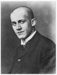 WENZEL WEIS, Oskar Kokoschka with shaved bald head, 1909<small>&copy ÖNB / Wien, Pf 2783: D</small>