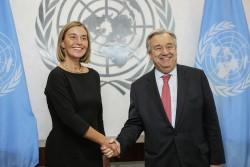 Federica Mogherini and Antonio Guterres<small>© EU European Union</small>