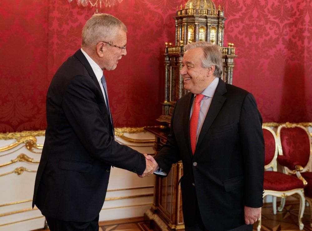 Van der Bellen with António Guterres<small>© www.bundespraesident.at / Peter Lechner / HBF</small>