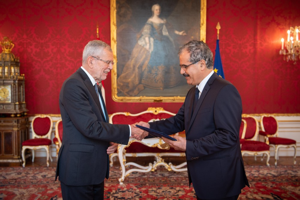 Ambassador of the Republic of Iraq, Baker Fattah Hussen<small>© www.bundespraesident.at / Karlovits, Bauer und Heinschink / HBF</small>