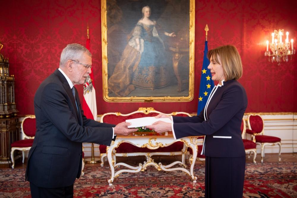 Ambassador of Greece, Catherine Koika<small>© www.bundespraesident.at / Karlovits, Bauer und Heinschink / HBF</small>