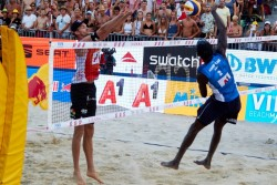 Beach Volleyball - Vienna Major 2019 on the Danube Island<small>© ACTS Sportveranstaltungen & Beach Majors GmbH / Mike Ranz</small>