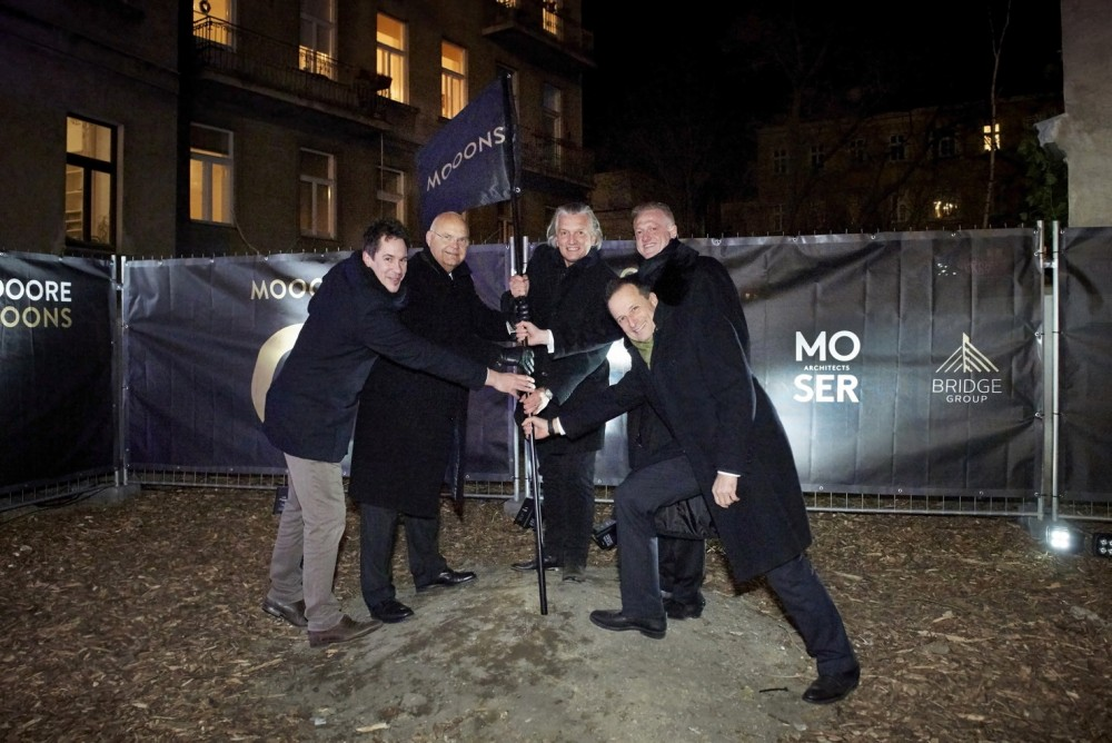 MOOONS Hotel Vienna - Groundbreaking<small>© MOOONS Operations Alpha GmbH / ARCOTEL Hotels</small>