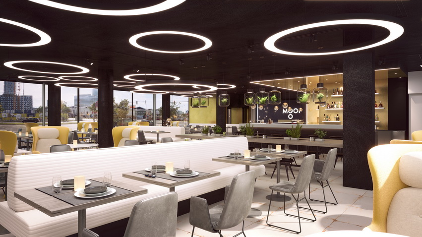 MOOONS Hotel Vienna - Restaurant<small>© MOOONS Operations Alpha GmbH / ARCOTEL Hotels</small>
