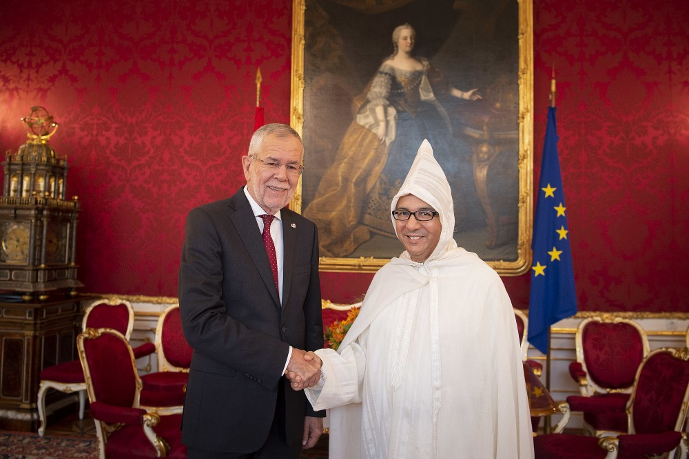 Ambassador of Morocco, Azzeddine Farhane<small>© www.bundespraesident.at / Lisa Kapici and Carina Karlovits / HBF</small>