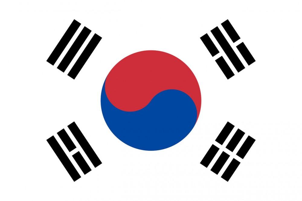 Flag of South Korea<small>© Wikimedia Commons / [Public Domain]</small>