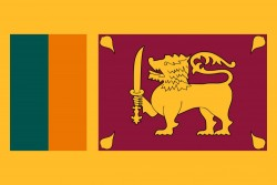 Flag of Sri Lanka<small>&copy Wikimedia Commons / Zscout370 [Public Domain]</small>