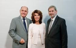 Wolfgang Sobotka, Brigitte Bierlein and Johannes Hahn<small>© Bundeskanzleramt (BKA) / Andy Wenzel</small>
