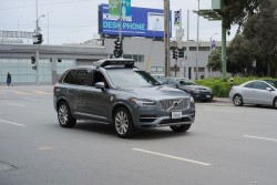 Uber autonomous Volvo XC90<small>© Wikimedia Commons / Dllu [CC BY-SA 4.0]</small>