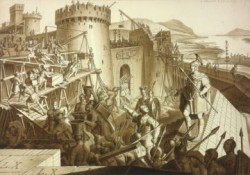 Die Römer errichten das Kastell Vindobona.<small>&copy Wikimedia Commons / Karl Ruß [Public Domain]</small>