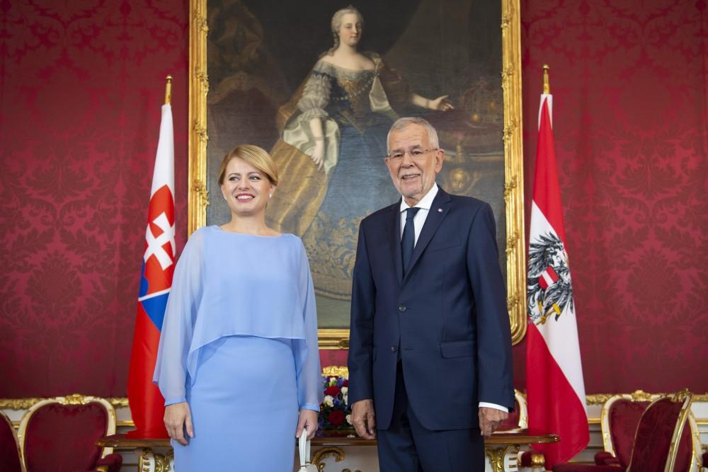 Zuzana Čaputová with Alexander Van der Bellen<small>© bundespraesident.at / Carina Karlovits and Peter Lechner / HBF</small>