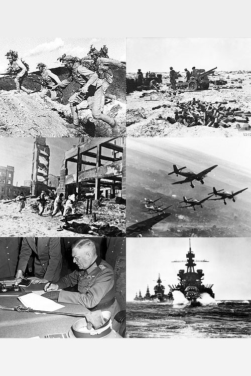 WWII - World War II - Infobox Collage<small>© Wikimedia Commons / User:Staberinde [CC BY-SA 3.0 de]</small>