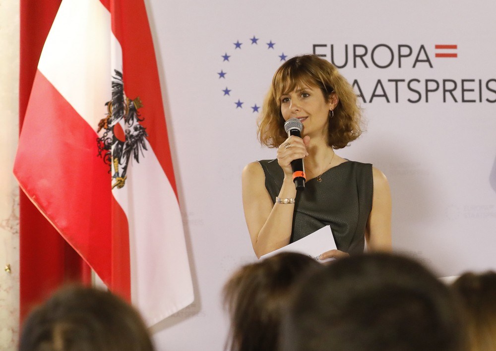 Europa-Staatspreis 2019<small>© BMEIA  / Eugénie Berger / Flickr Attrib. 2.0 Generic (CC BY 2.0)</small>