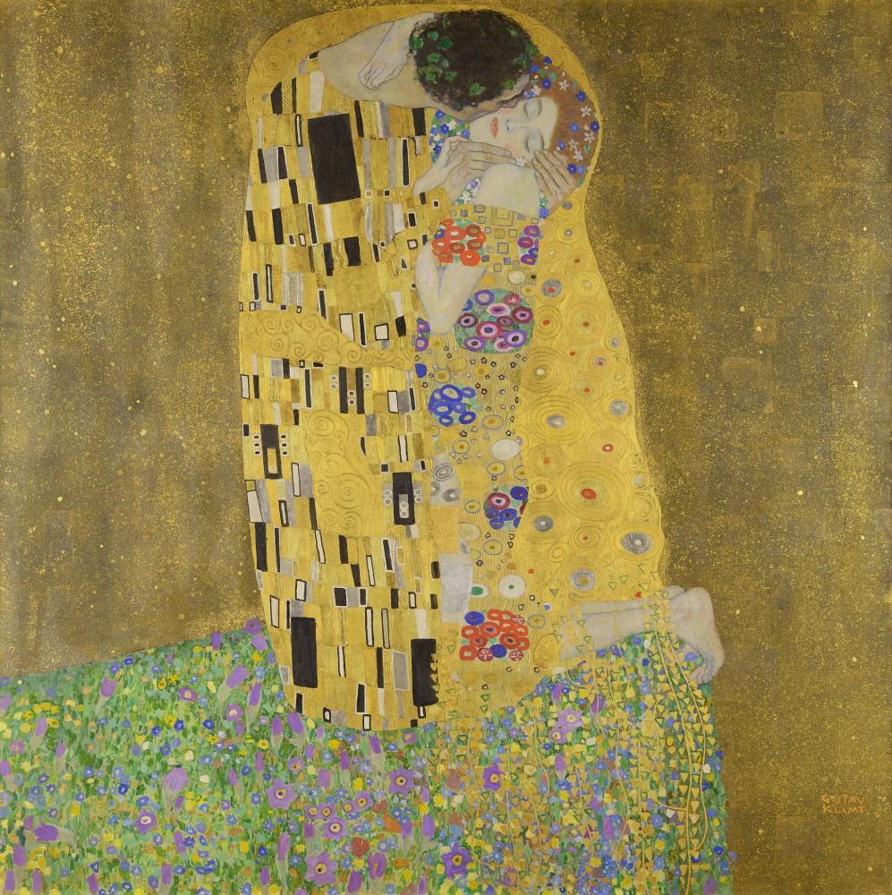 Gustav Klimt - Der Kuss – Liebespaar<small>© Wikimedia Commons / Gustav Klimt [Public Domain]</small>