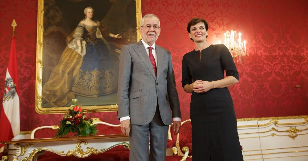 Alexander Van der Bellen and Pamela Rendi Wagner<small>© Österreichische Präsidentschaftskanzlei / Peter Lechner/HBF</small>