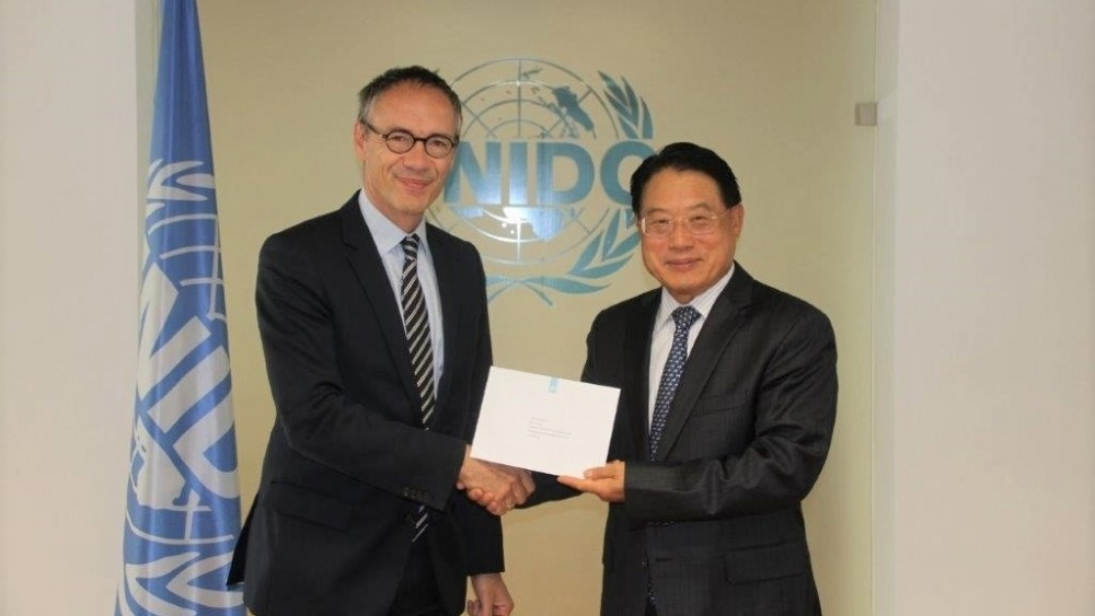 Ambassador Gierveld presented his credentials to DG Li Yong<small>© UNIDO United Nations Industrial Development Organization</small>