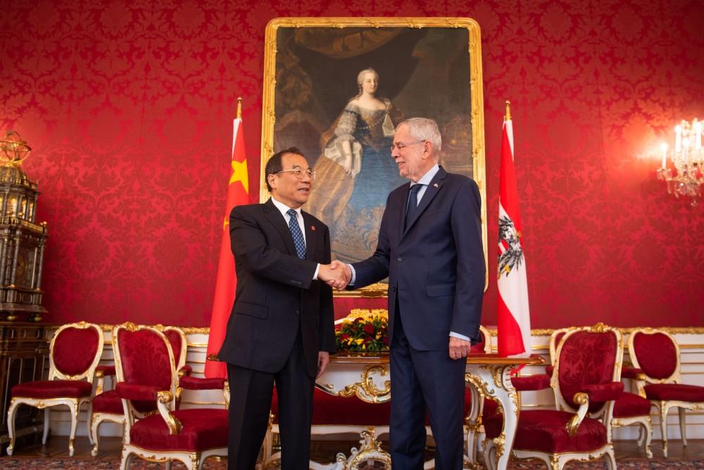 Yang Xiaodu, Chairman of China's National Supervisory Commission<small>© www.bundespraesident.at / Carina Karlovits / HBF</small>