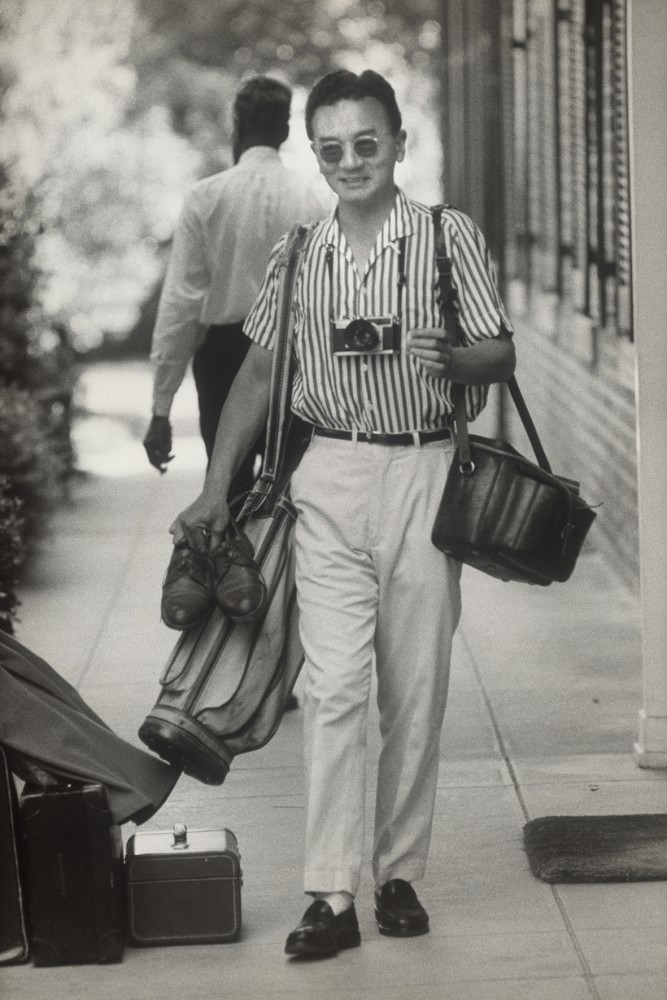 Okamoto als White House Photographer in Washington, ca. 1963<small>© Okamoto / ÖNB</small>