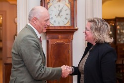 Ambassador Weiss and U.S. Chief of Protocol Cam Henderson.<small>© U.S. Department of State</small>