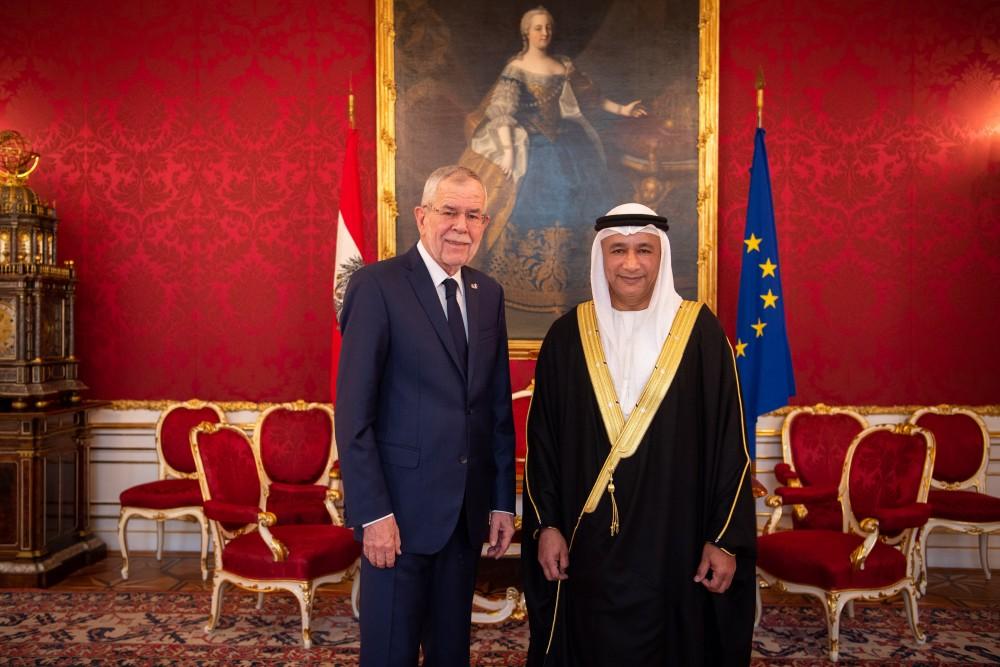 UAE Ambassador H.E. Ibrahim Salim Mohamed Al Musharrakh<small>© bundespraesident.at / Carina Karlovits & Clemens Schwarz / HBF</small>
