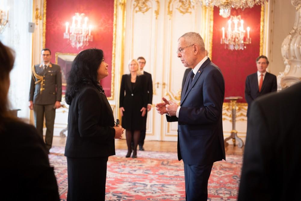 Ambassador of Cuba, H.E. Ms.Loipa Sánchez Lorenzo.<small>© bundespraesident.at / Carina Karlovits & Clemens Schwarz / HBF</small>