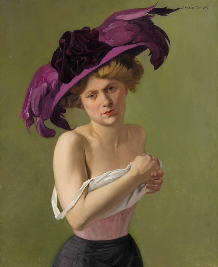 Félix Vallotton - The Violet Hat, 1907<small>© Reto Pedrini, Zürich</small>