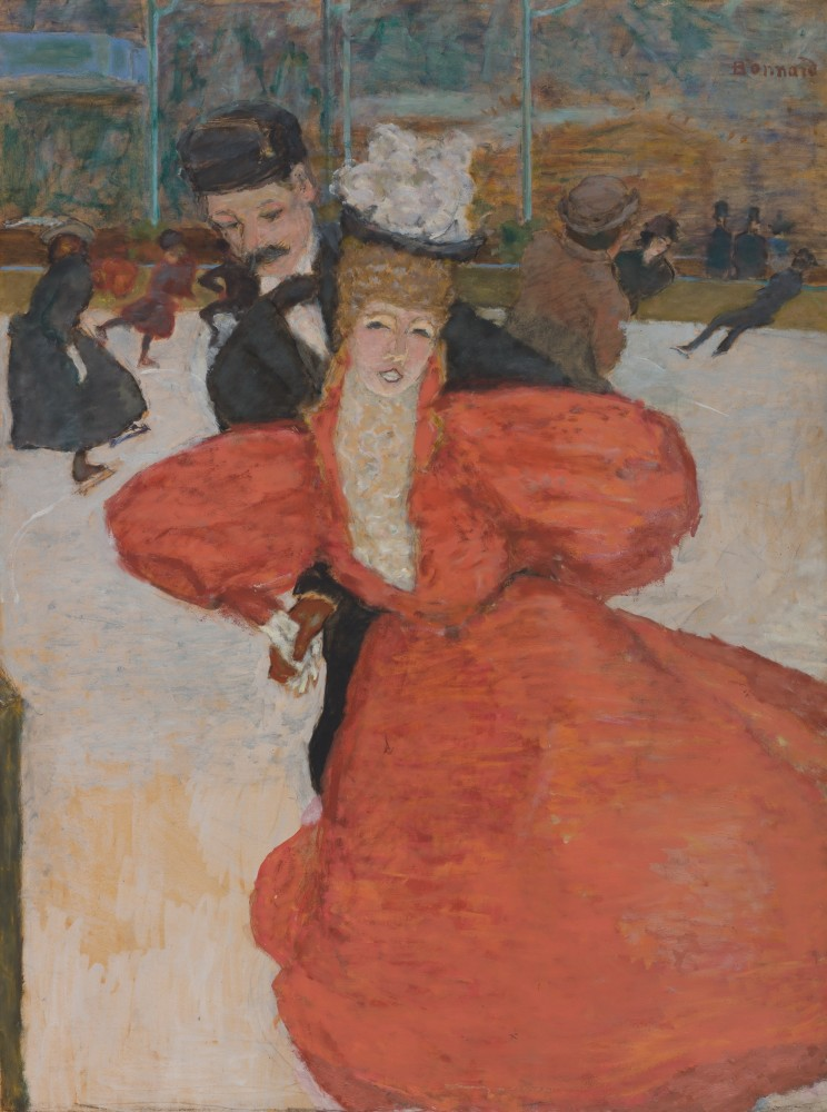 Pierre Bonnard - Palais de Glace, Ice-Skating, 1896–1898<small>© Private Collection</small>
