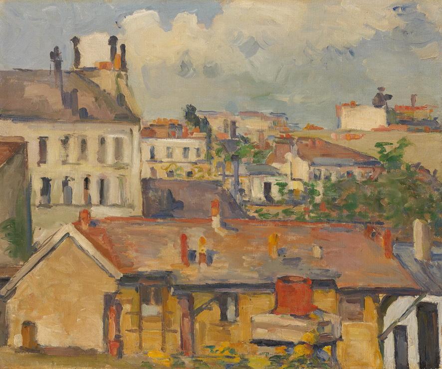 Paul Cézanne - Roofs, 1876/77<small>© Reto Pedrini, Zurich</small>