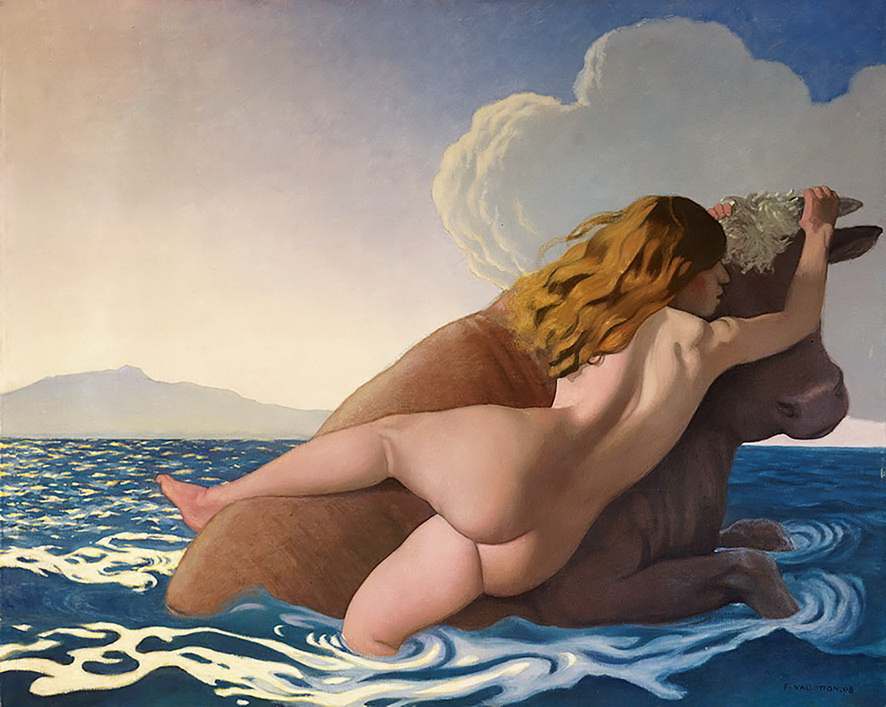 Félix Vallotton - The Rape of Europa, 1908<small>© Kunstmuseum, Bern</small>