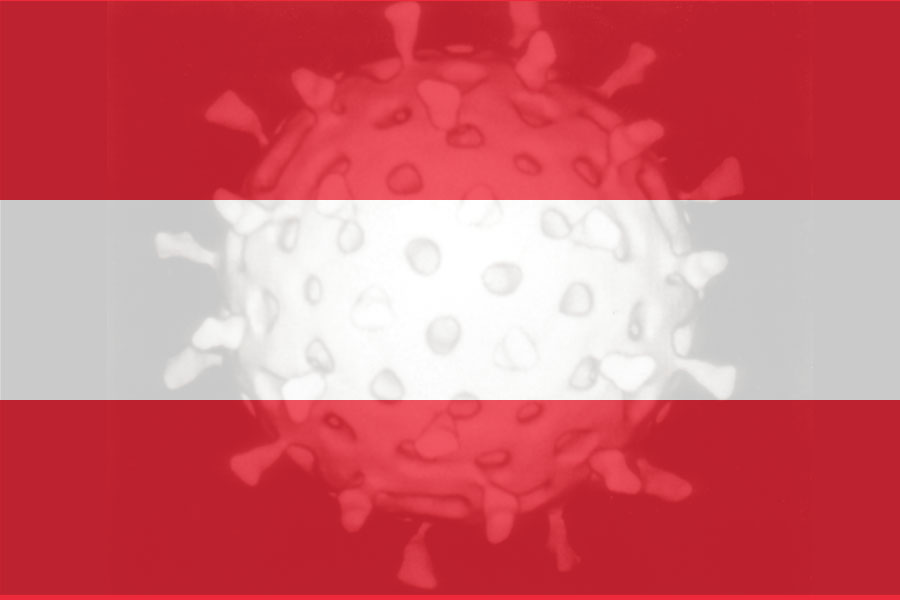 Coronavirus, Austrian Flag<small>© Vindobona.org (Collage of Photos)</small>