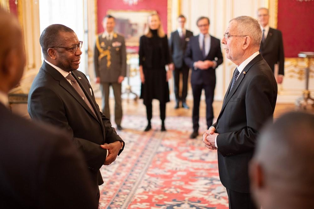 Ambassador of Equatorial Guinea, H.E. Mr. Miko Nchama.<small>© bundespraesident.at / Peter Lechner and Clemens Schwarz / HBF</small>