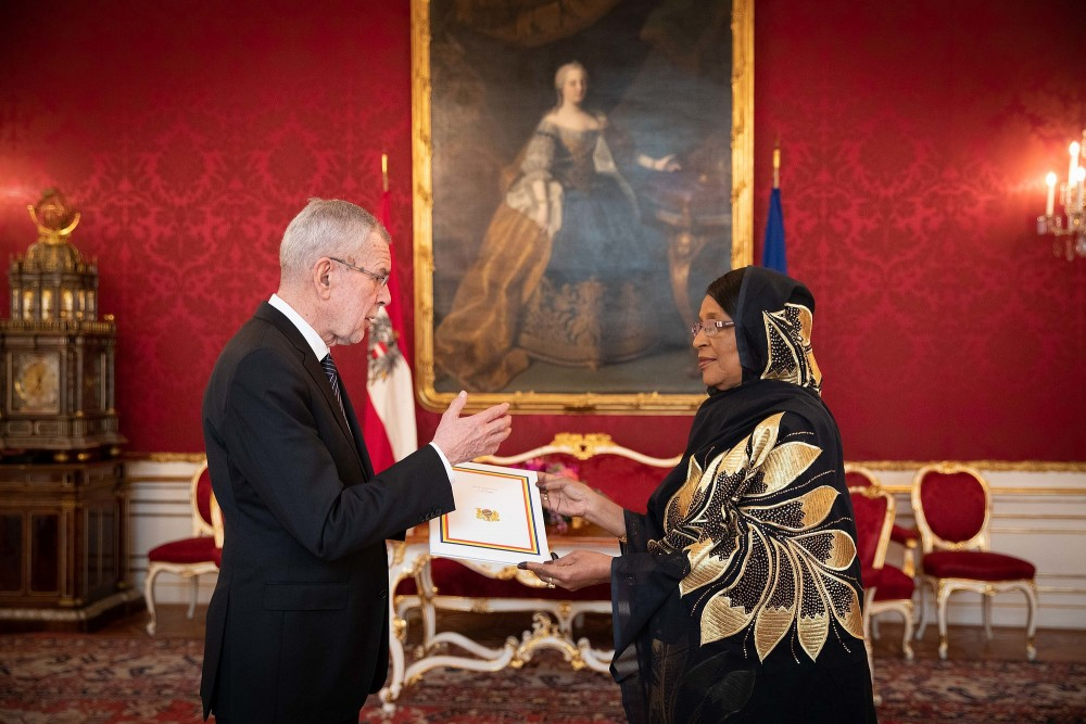 H.E. Mrs. Mariam Ali Moussa, Ambassador of the Republic of Chad<small>© bundespraesident.at / Peter Lechner and Clemens Schwarz / HBF</small>