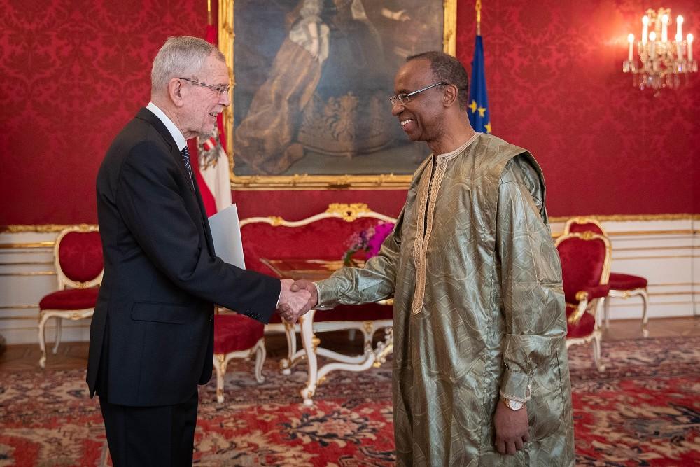Ambassador of Guinea, H.E. Mr. Mamadou Siradiou Diallo<small>© bundespraesident.at / Peter Lechner and Clemens Schwarz / HBF</small>