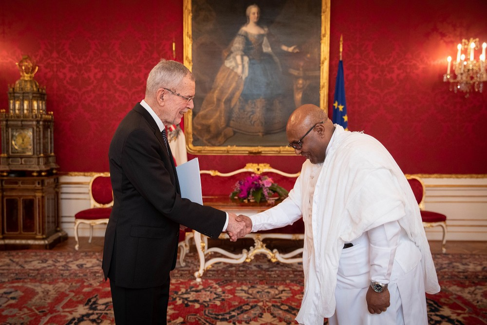 Ambassador of Ethiopia, H.E. Mr. Zenebe Kebede Korcho.<small>© bundespraesident.at / Peter Lechner and Clemens Schwarz / HBF</small>